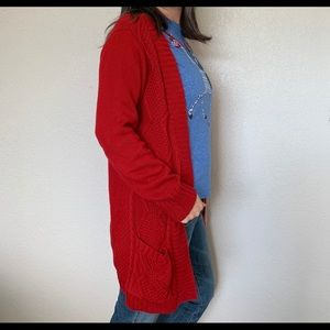 VENUS Sweaters - Venus red cardigan sweater